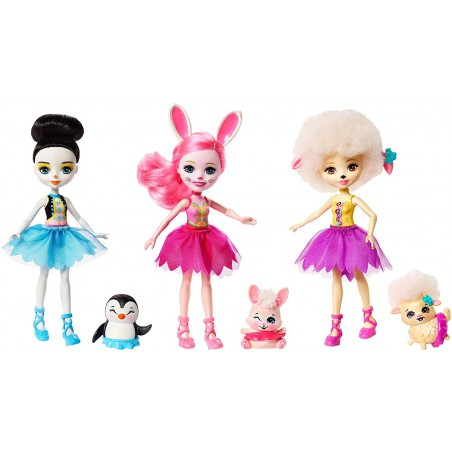 Enchantimals Pack 3 Muñecas Ballet