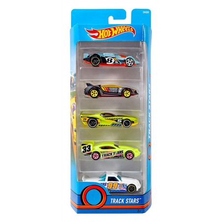 Hot Weels Pack de 5 Coches
