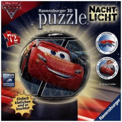 Cars puzzle 3D night light
