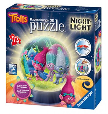 Trolls Puzzle 3D Night Light