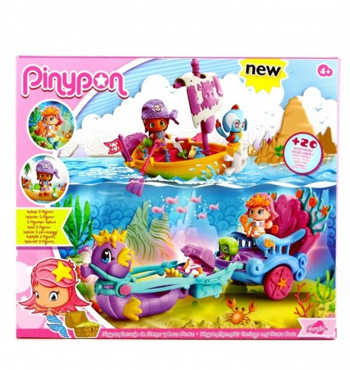 PinyPon Carroza de Sirenas y bote Pirata